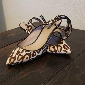 Leopard Print Kitten Heel